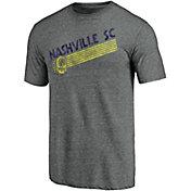 MLS Men's Nashville SC Retro Speed Grey Tri-Blend T-Shirt