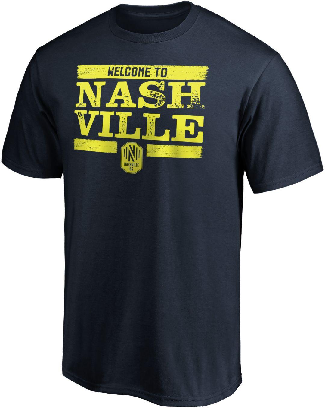 new style a53e6 10ceb MLS Men's Nashville SC Welcome To Nashville Navy T-Shirt