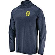 MLS Men's Nashville SC Logo Navy Quarter-Zip Pullover