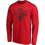 MLS Men's D.C United Iconic Phalanx Red Long Sleeve Shirt