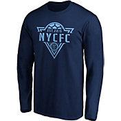 MLS Men's New York City FC Iconic Phalanx Navy Long Sleeve Shirt