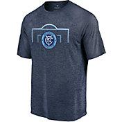 MLS Men's New York City FC Lines Navy T-Shirt
