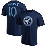 MLS Men's New York City FC Maximiliano Moralez #10 Navy Player T-Shirt