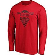MLS Men's New York Red Bulls Iconic Phalanx Red Long Sleeve Shirt