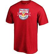 MLS Men's New York Red Bulls Logo Red T-Shirt