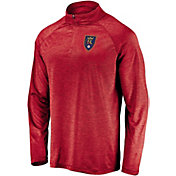 MLS Men's Real Salt Lake Logo Red Quarter-Zip Pullover