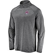 MLS Men's Colorado Rapids Logo Grey Quarter-Zip Pullover