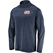 MLS Men's New England Revolution Logo Navy Quarter-Zip Pullover