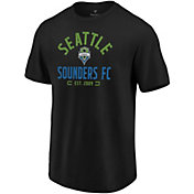MLS Men's Seattle Sounders Battle Arc Black T-Shirt