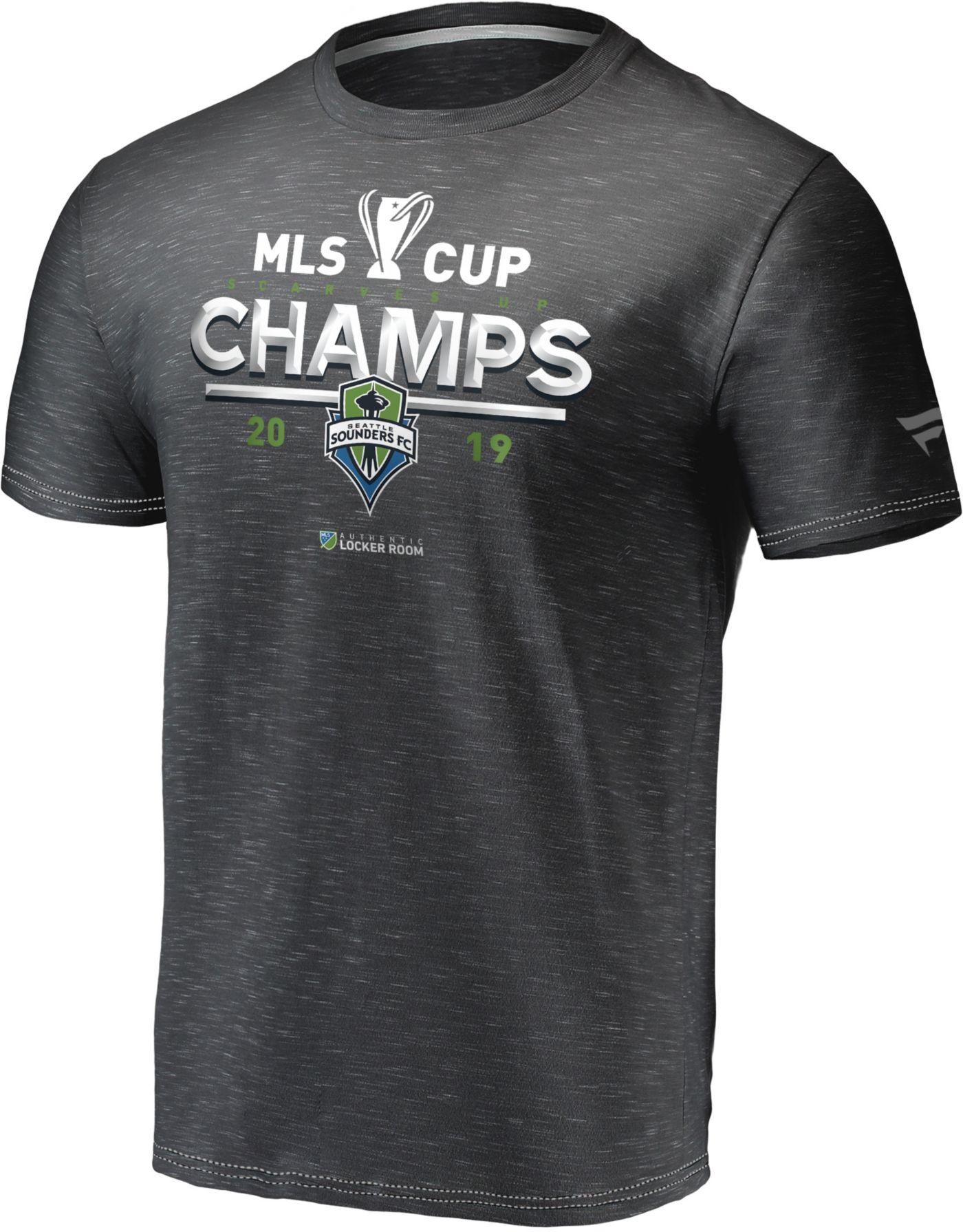 MLS Men's 2019 MLS Cup Champions Seattle Sounders Locker Room T-Shirt