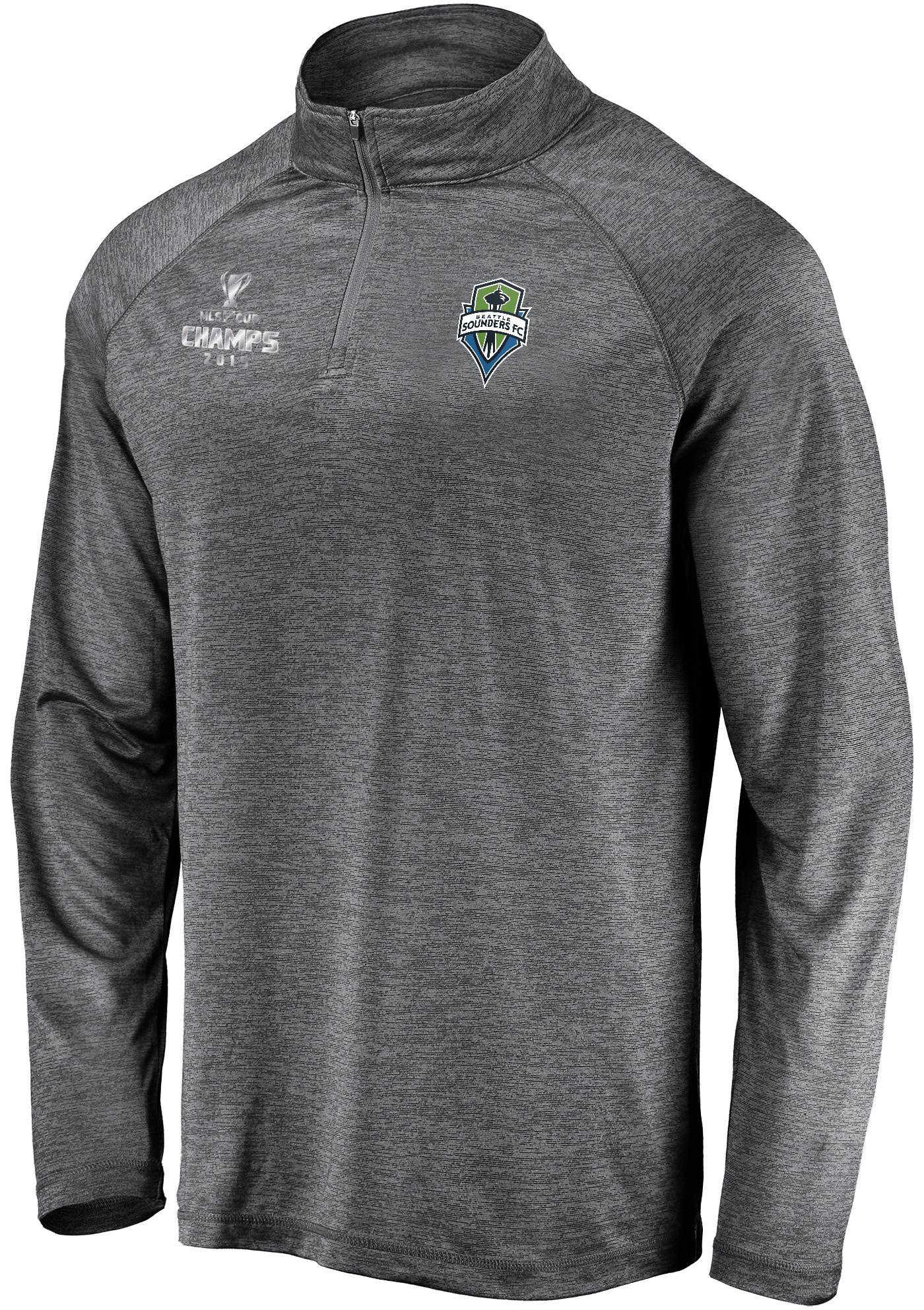 MLS Men's 2019 MLS Cup Champions Seattle Sounders Quarter-Zip Pullover