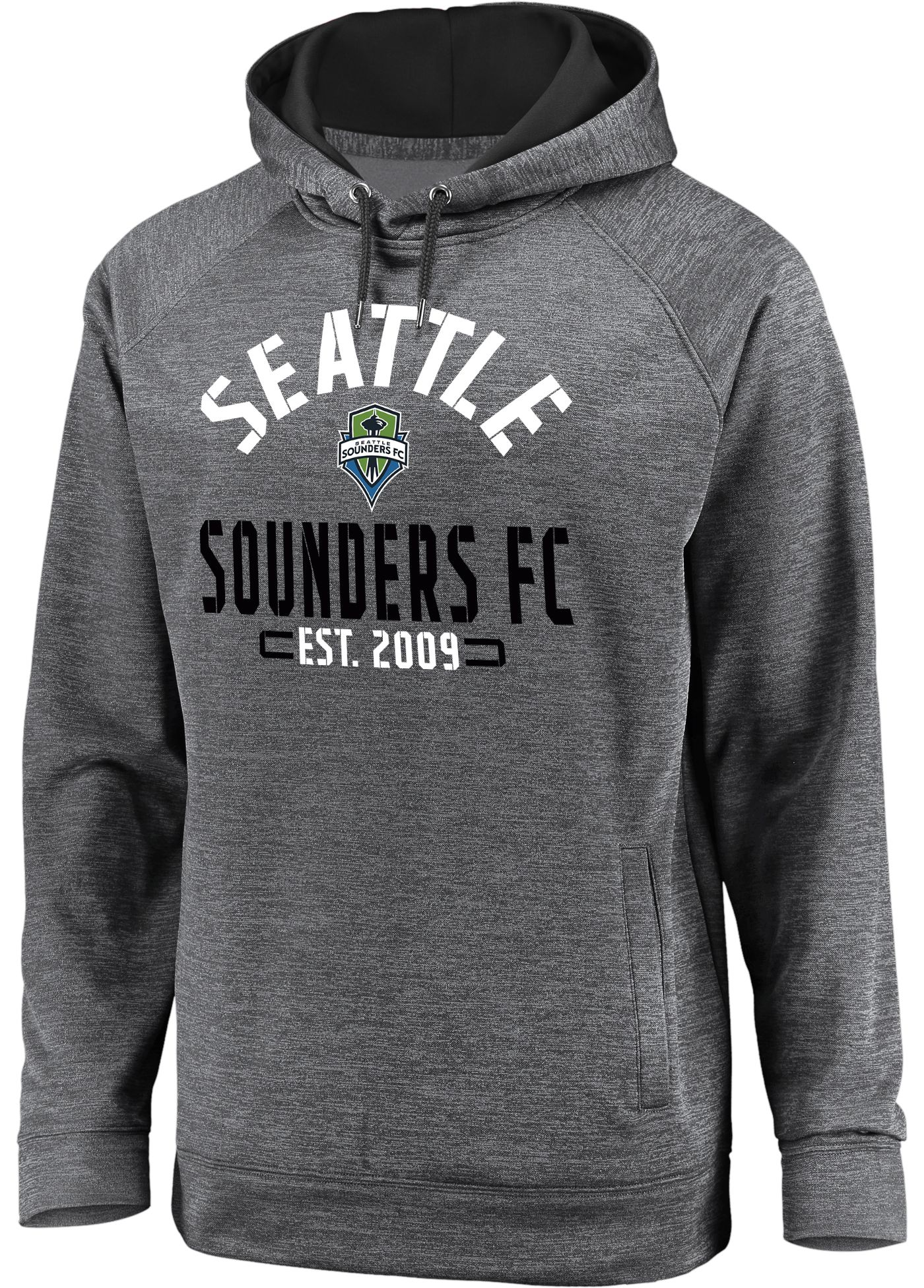 MLS Men's Seattle Sounders Team Heather Grey Hoodie