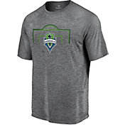 MLS Men's Seattle Sounders Lines Heather Grey T-Shirt