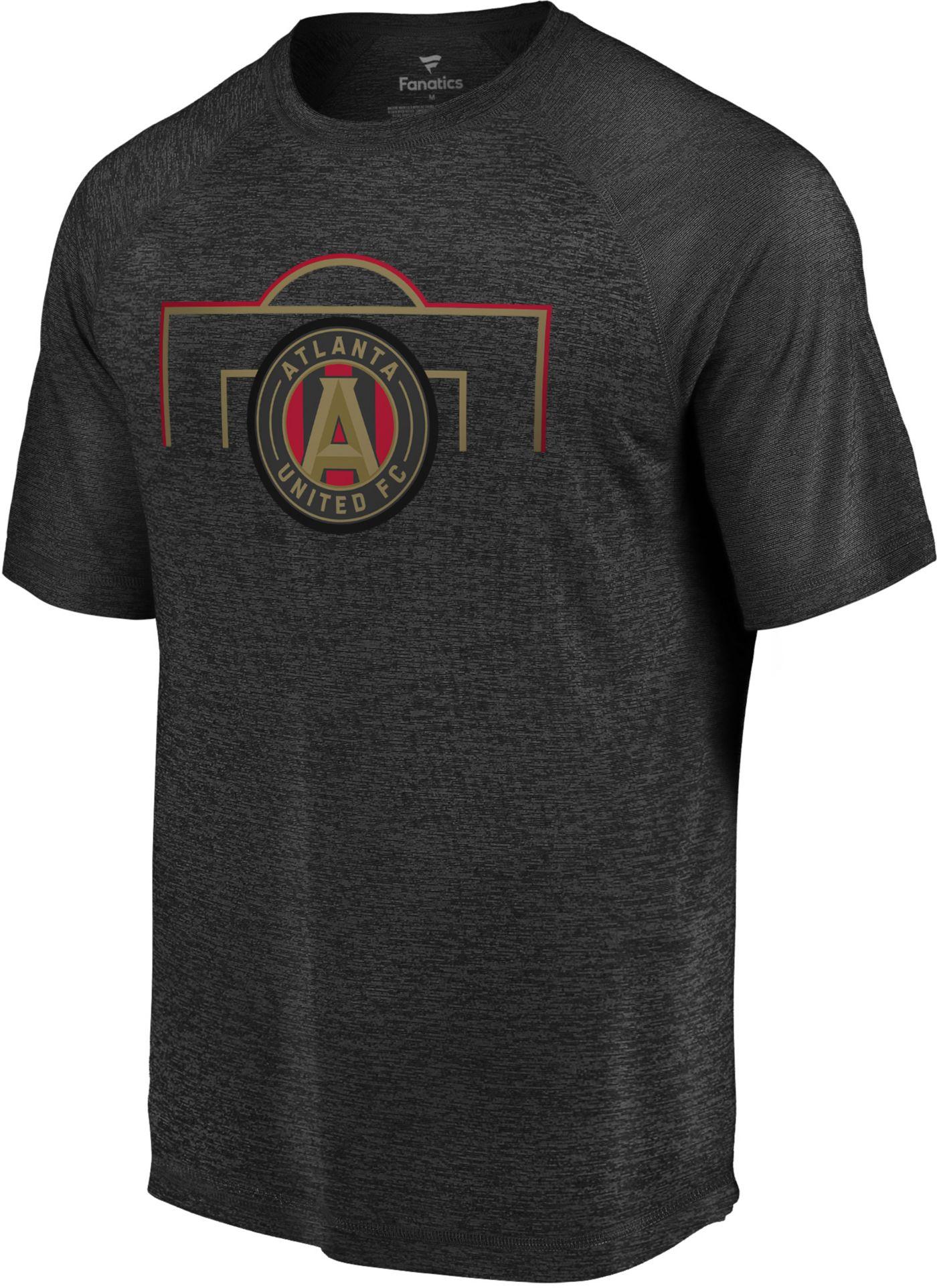 MLS Men's Atlanta United Lines Black T-Shirt