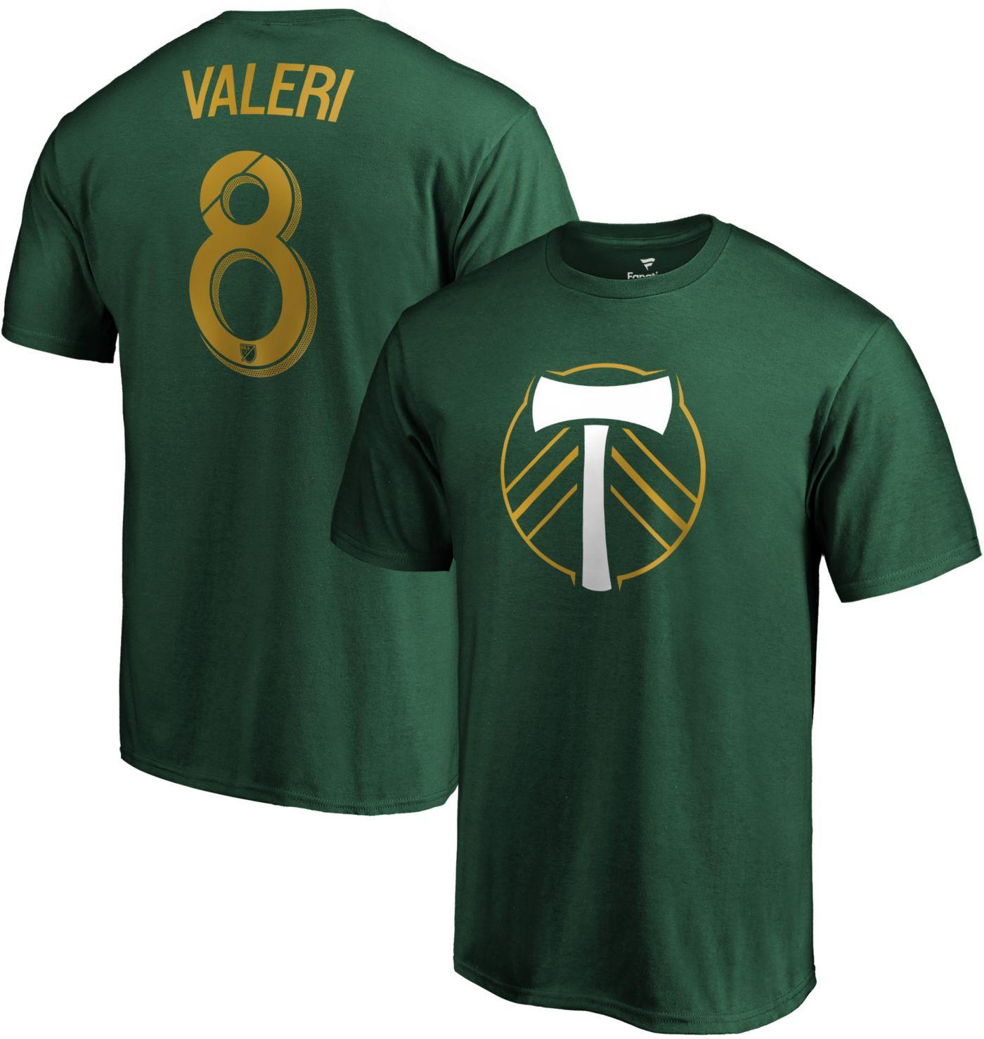 MLS Men's Portland Timbers Diego Valeri #8 Green Player T-Shirt