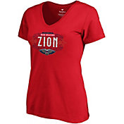 "NBA Women's New Orleans Pelicans Zion Williamson ""Zion"" Red V-Neck T-Shirt"