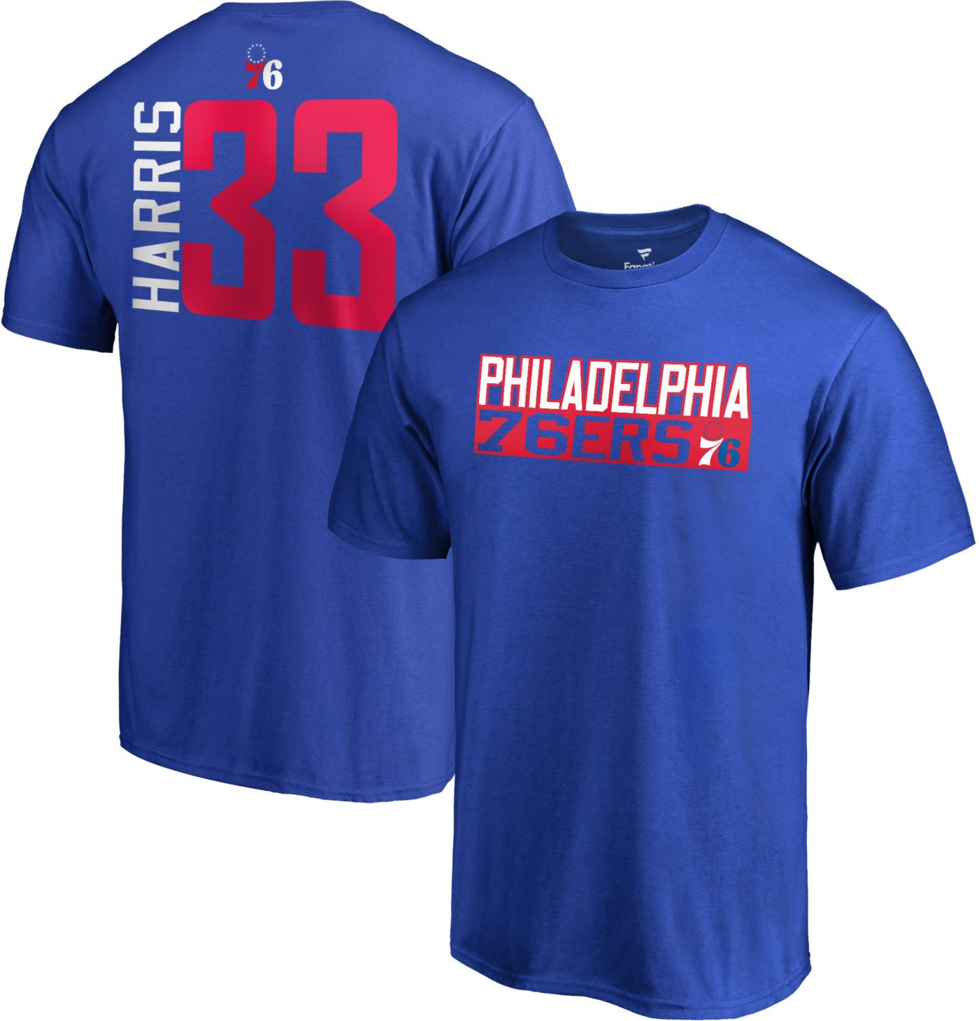 NBA Men's Philadelphia 76ers Tobias Harris #33 Royal T-Shirt