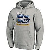 a834f4933 Product Image · NBA Men s 2019 Western Conference Champions Golden State  Warriors Grey Locker Room Pullover Hoodie