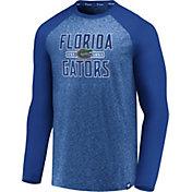 NCAA Men's Florida Gators Blue Marble Long Sleeve T-Shirt