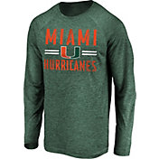 NCAA Men's Miami Hurricanes Green Iconic Long Sleeve T-Shirt