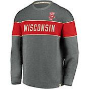 NCAA Men's Wisconsin Badgers Red Signature Crew Sweatshirt