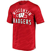 NCAA Men's Wisconsin Badgers Red Icon Defend T-Shirt