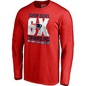 NFL Men's Super Bowl LIII 6X Champions New England Patriots Long Sleeve Shirt