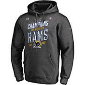 NFL Men's NFC Conference Champions Los Angeles Rams Locker Room Hoodie