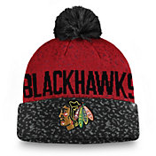 NHL Men's Chicago Blackhawks Fan Weave Pom Knit Beanie