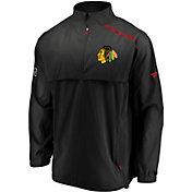 NHL Men's Chicago Blackhawks Authentic Pro Rinkside Black Full-Zip Jacket