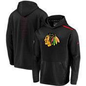 NHL Men's Chicago Blackhawks Authentic Pro Rinkside Fleece Black Pullover Hoodie