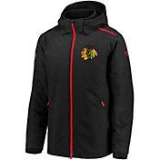NHL Men's Chicago Blackhawks Rinkside Premier Black Full-Zip Jacket