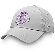 NHL Men's Chicago Blackhawks Hockey Fights Cancer Snapback Adjustable Hat