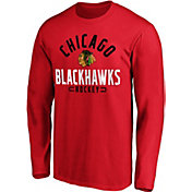 NHL Men's Chicago Blackhawks Battle Arc Red Long Sleeve Shirt