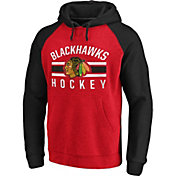 NHL Men's Chicago Blackhawks Raglan Red/Black Pullover Hoodie