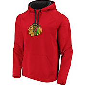 NHL Men's Chicago Blackhawks Logo Red Pullover Hoodie