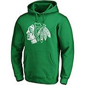 NHL Men's St. Patrick's Day Chicago Blackhawks Logo Green Pullover Hoodie