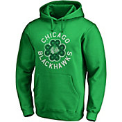 NHL Men's 2019 St. Patrick's Day Chicago Blackhawks Luck Green Pullover Hoodie