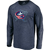 4b0a300f3ed Product Image · NHL Men s Columbus Blue Jackets Vital Navy Heathered Long  Sleeve Shirt