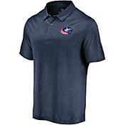 NHL Men's Columbus Blue Jackets Logo Navy Polo