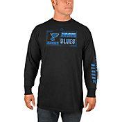Majestic Men's St. Louis Blues Quick Whistle Black Long Sleeve Shirt