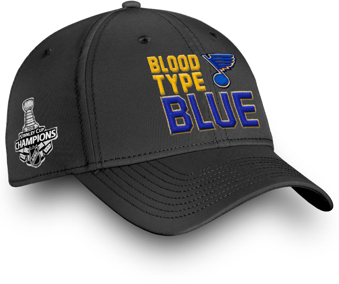 NHL Men's 2019 NHL Stanley Cup Champions St. Louis Blues Blood Type Blue Flex Hat