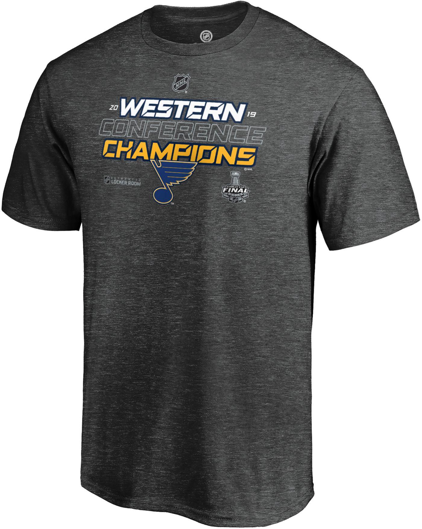 NHL Men's 2019 NHL Western Conference Champions St. Louis Blues Locker Room T-Shirt