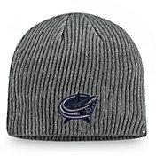 NHL Men's Columbus Blue Jackets Marled Tech Pom Knit Beanie