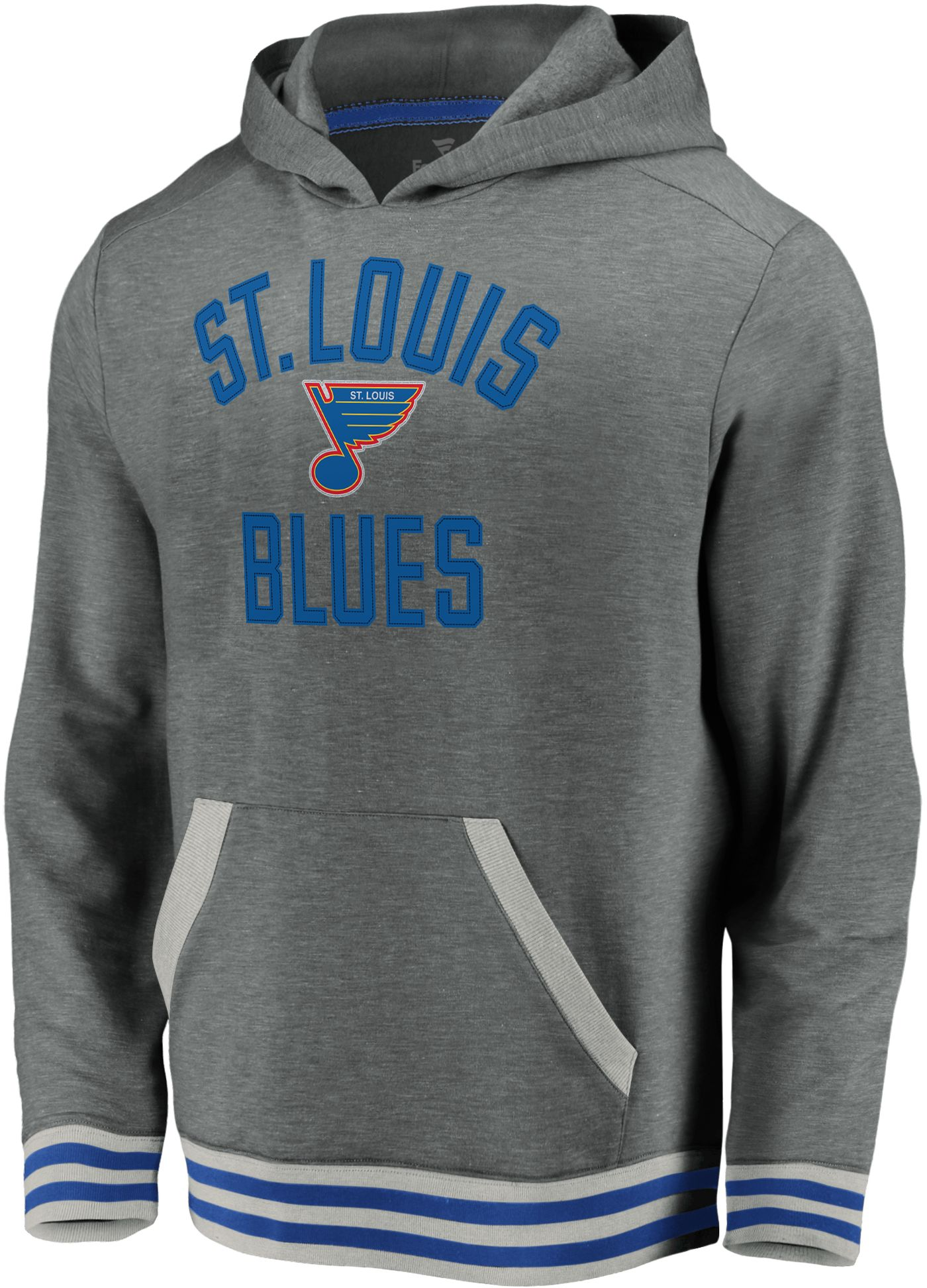 NHL Men's St. Louis Blues Upper Class Heather Grey Pullover Hoodie