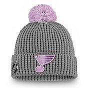 NHL Women's St. Louis Blues Hockey Fights Cancer Pom Knit Beanie