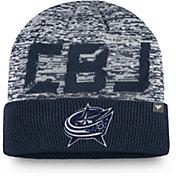 NHL Men's Columbus Blue Jackets Clutch Cuffed Knit Beanie