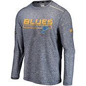 NHL Men's St. Louis Blues Authentic Pro Off Ice Navy Long Sleeve Shirt