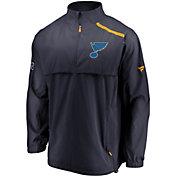 NHL Men's St. Louis Blues Authentic Pro Rinkside Navy Full-Zip Jacket