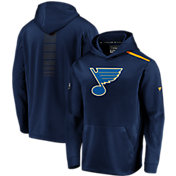 NHL Men's St. Louis Blues Authentic Pro Rinkside Fleece Navy Pullover Hoodie